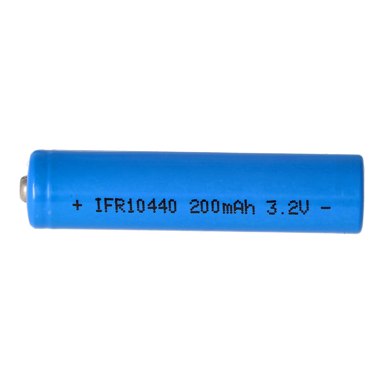 3,2 Volt Solar Akku Lithium IFR 10440 200mAh LiFePo4 Akku, 3