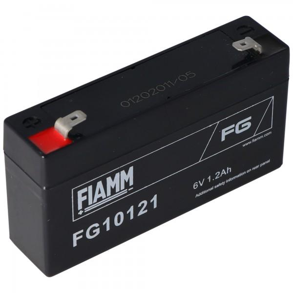 Fiamm FG10121 Blei-Gel Akku 6 Volt, 1,2Ah mit 2 Faston Steckkontakten