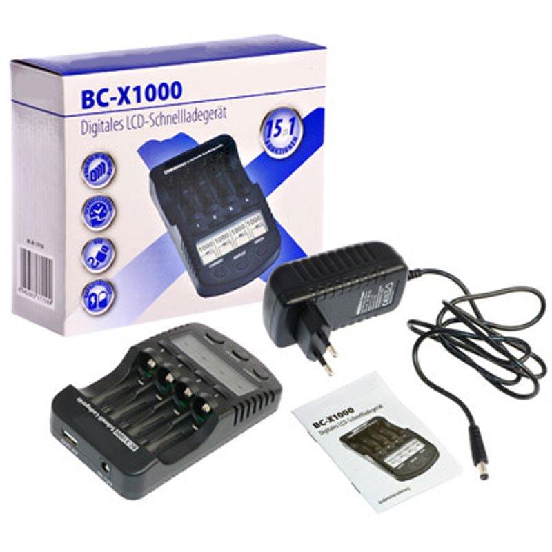 Schnellladegerät mit LCD Display, 4 eneloop AA Mignon und