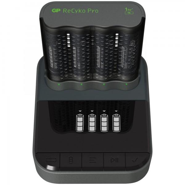 USB-Modell Ladegerät GP P461 Pro-Line 4 x ReCyko Pro AA 2000 mAh USB Dockingstation