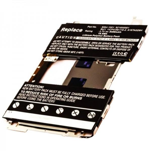 Akku passend für den BLACKBERRY Playbook Akku 1ICP4/58/116-2, 916TA029H, 921600001, RU1, SQU-1001