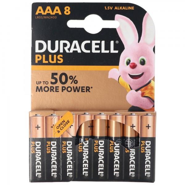 DURACELL MN2400 PLUS Alkaline Batterien 1,5V Micro 8 Stück