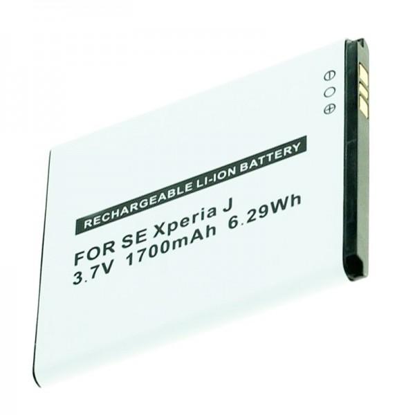 AccuCell Akku passend für Sony Ericsson Handy BA900, Xperia J, GX, T, TX 1700mAh
