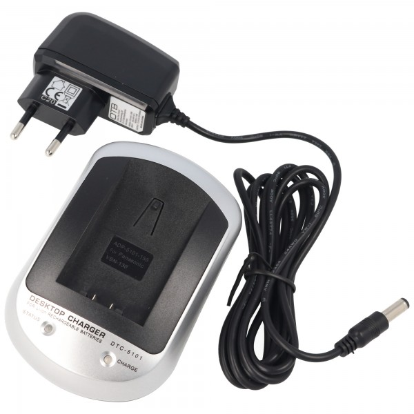 Schnellladegerät passend für den Akku Panasonic VW-VBN130, VW-VBN260