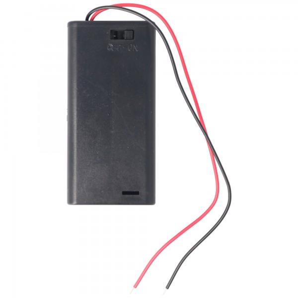 Batteriehalter für 2x Mignon AA LR6 Batterie mit An/Aus Schalter