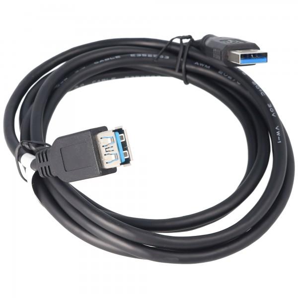 USB 3.0 SuperSpeed Kabel 1,8 Meter A-Stecker auf A-Buchse