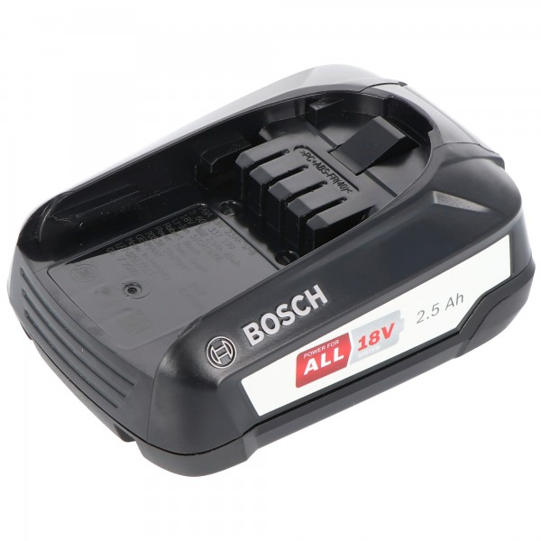 Bosch 18 Volt Ersatz Akku 2,5 Ah passend für alle Geräte des grünen Bosch Home und Garden Li-Ion 18 Volt Systems