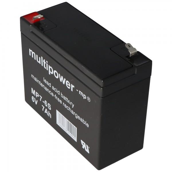 Multipower MP7-6S passend für den Sonnenschein A206/6.5S Akku, jedoch mit etwas anderen Kontakten