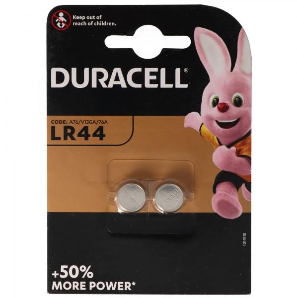 Duracell LR44, V13GA, GPA76, 82, LR1154, 357A, 2er Pack