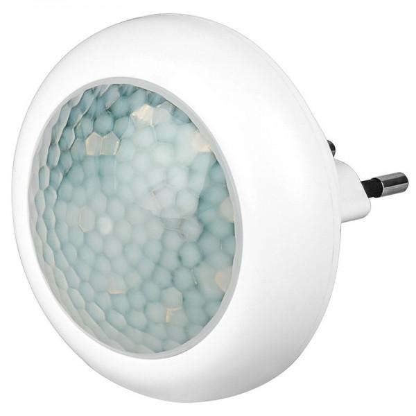 LED Nachtlicht rund mit Infrarot Bewegungsmelder, Dämmerungssensor