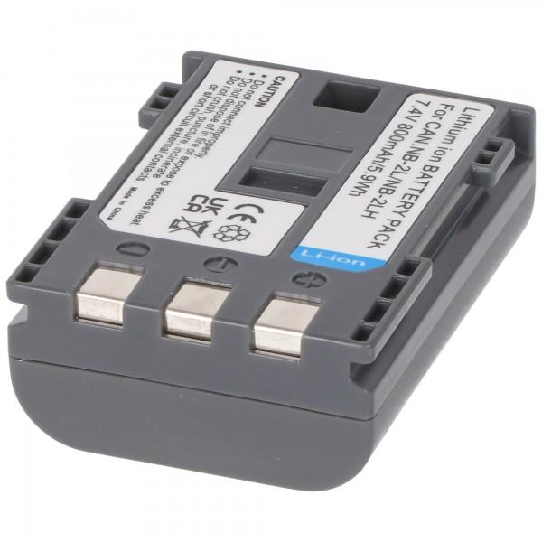 Akku passend für Canon NB-2LH, NB-2L Li-Ion max. 800mAh