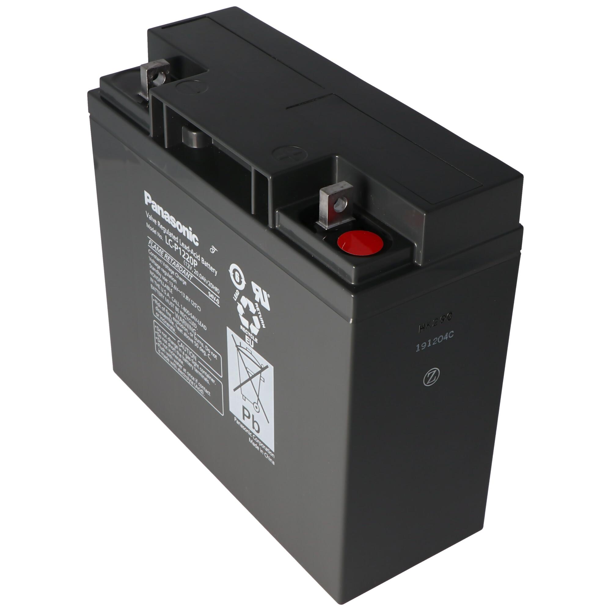 Panasonic LC X1220P Akku 12 Volt 20Ah X1220P Blei Akku   12