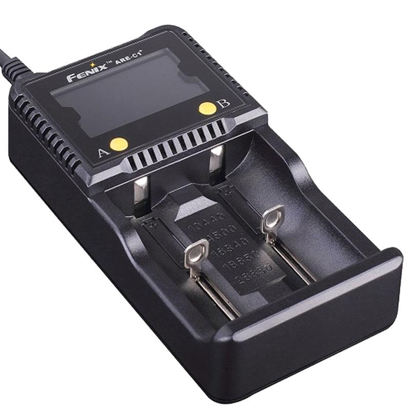 Fenix ARE C1+ Schnell Ladegerät für 1 2 Stück 18650 Li Ion