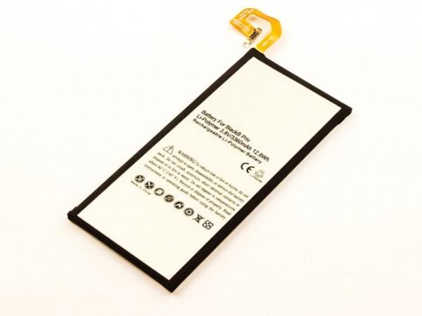 Akku passend für Blackberry Priv, Li-Polymer, 3,8V, 3360mAh, 12,8Wh mit IC chip, built-in, ohne Werkzeug