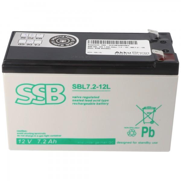 SSB SBL 12V 7,2Ah Akku, 7.2-12L, SBL7.2-12L Akku, AGM Bleiakku