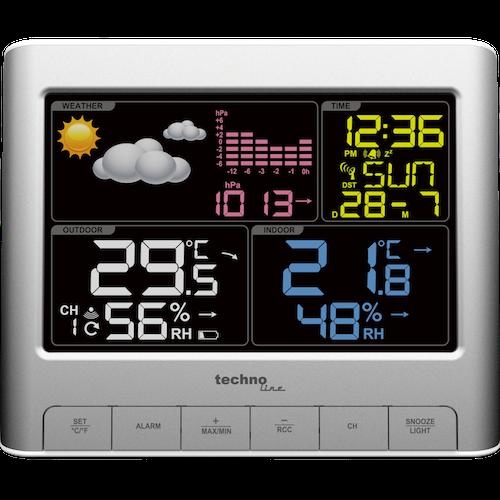 WS 6449 - Moderne Wetterstation mit farbigem Display