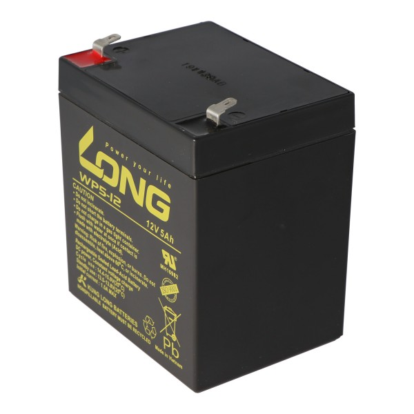 Kung Long WP5-12 Blei Akku 12 Volt 5Ah z.B. passend für den Batterypack APCRBC140 von APC, es werden dazu 16 Stück benötigt