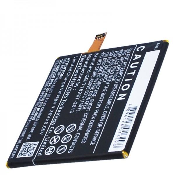 Akku passend für BQ Aquaris E5 HD Ubuntu Edition B24, GYA1407, GYA14072202346 Li-Polymer 3,8 Volt 2500mAh