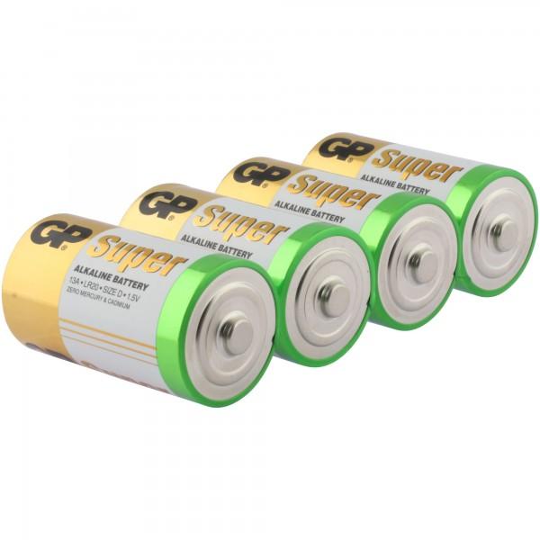 D Mono Batterie GP Alkaline Super 1,5V 4 Stück