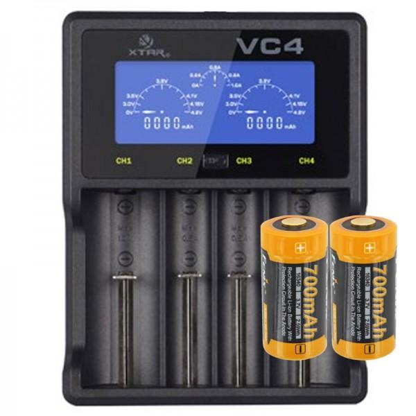 LCD-Schnell-Ladegerät für 1,2,3 oder 4 Stück Li-ion oder NiMH Akku