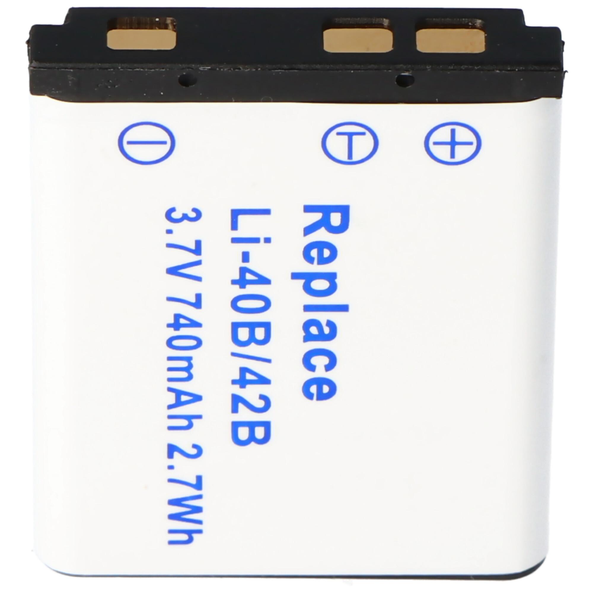 AccuCell Ladegerät passend für Nikon EN EL7, Coolpix 8400