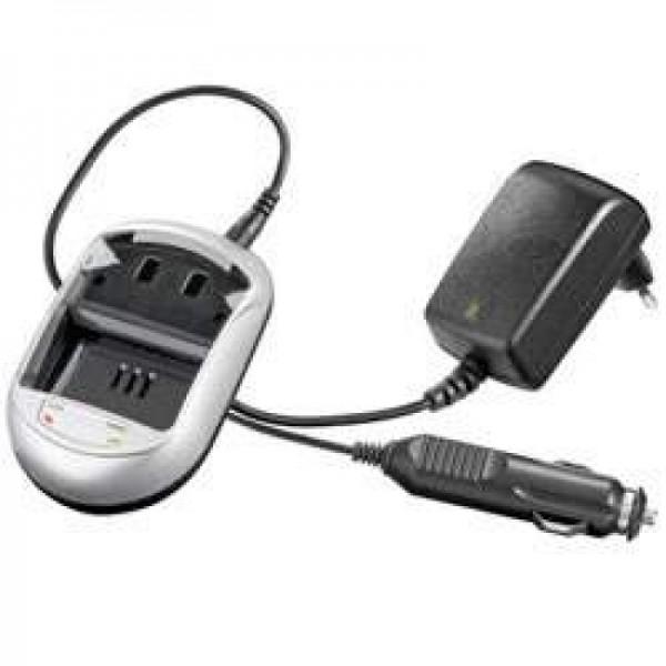 Schnell-Ladegerät passend für JVC BN-V107, BN-V114