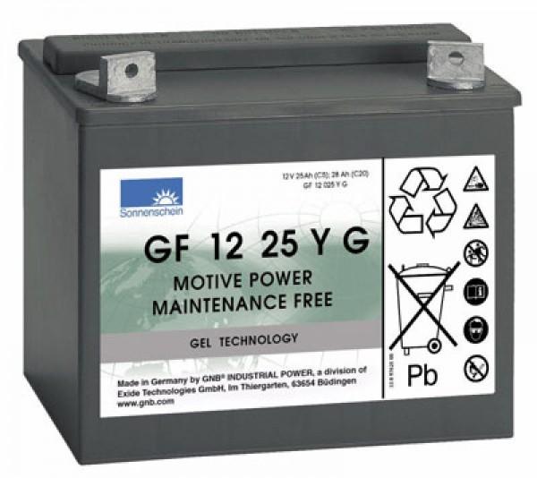 Exide Dryfit Akku GF 12 25 Y G GF12025YG 12 Volt 25 Ah für Golf-Caddies, etc.