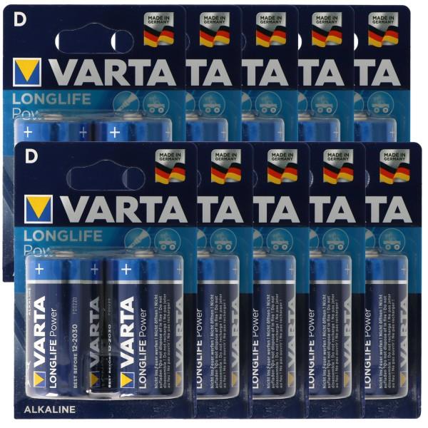 Varta Longlife Power (ehem. High Energy) Mono D 4920 Batterien 10x 2-er Blister