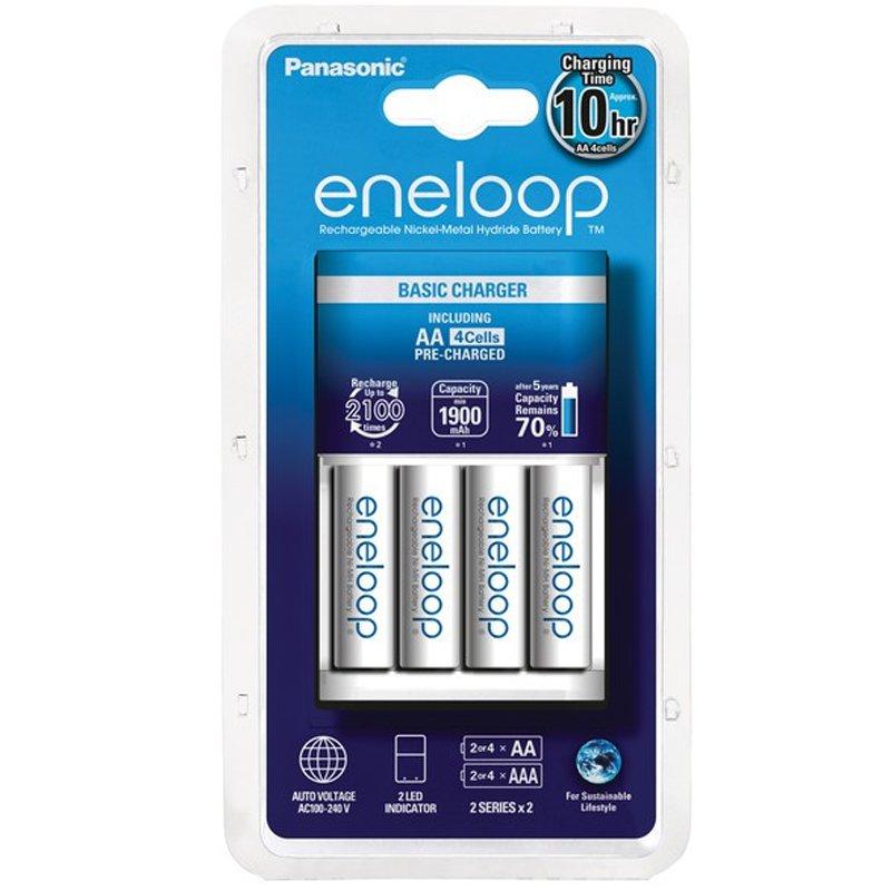 ENELOOP USB Ladegerät BQ CC61 weiß für 2 oder 4 Akkus Mignon