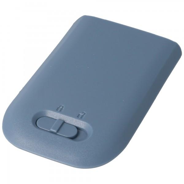 Akku passend für AVAYA 3720 DECT inklusive Gehäuserückdeckel in blau-grau