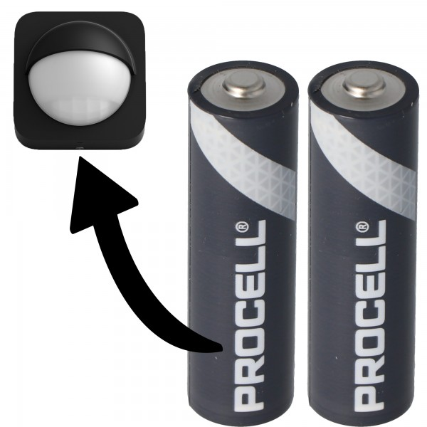 Batterie passend für Philips HUE Motion Outdoor Sensor 2x Duracell Procell Alkaline LR06 Mignon AA