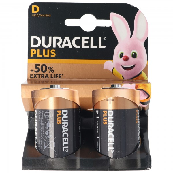 DURACELL Plus Mono/D/LR20 2er Pack