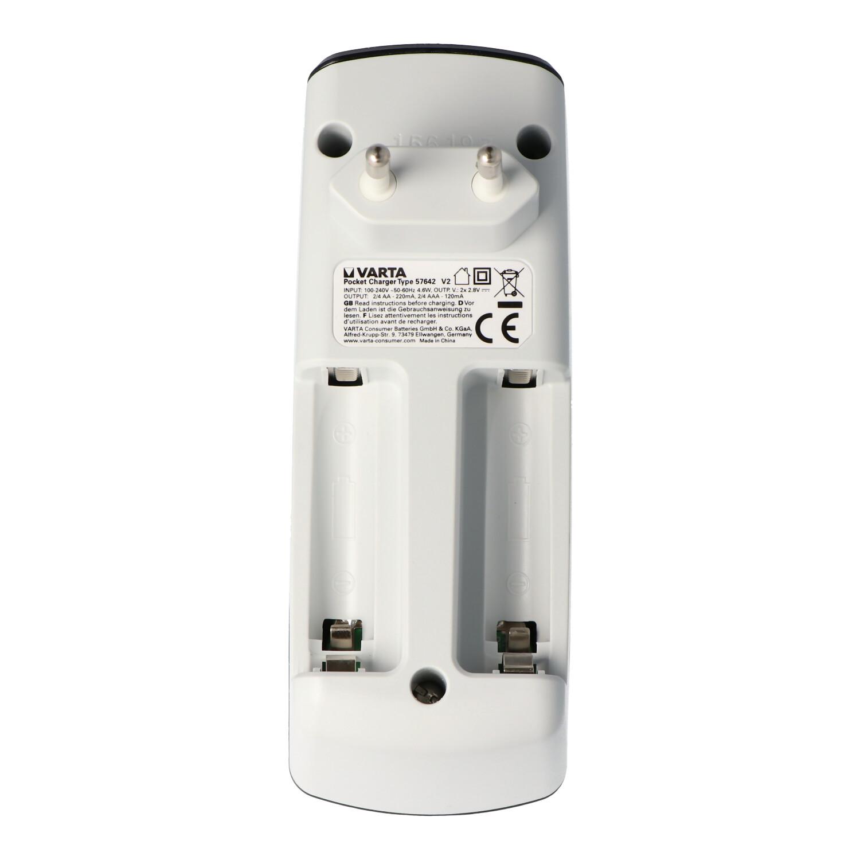 Varta Easy Energy Pocket Ladegerät für 2 oder 4 Mignon AA