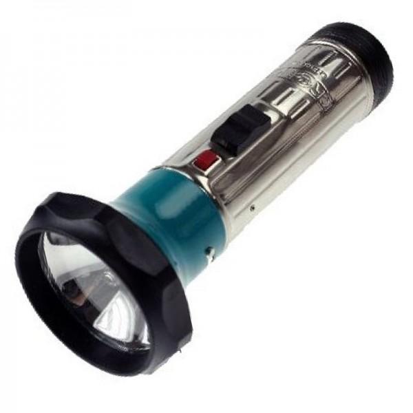 klassische Metall Stabtaschenlampe 172 x 70mm mit Glühbirne, für 2 Stück Mono LR20 Batterien