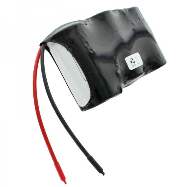 Akku für Notstrombeleuchtung, 3,6 Volt 4000mAh, Abmessungen ca. 96,9mm x 32,3mm x 60,3mm