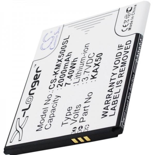Akku passend für Kazam Trooper X5.0, Akku KAX50 3,7 Volt 2000mAh