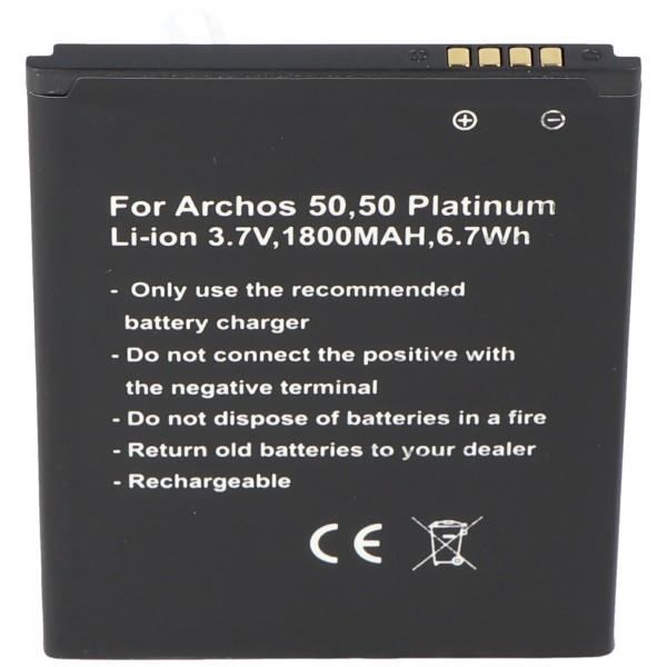 Akku nur passend für den Archos 50, 50 Platinum Akku AC50PL