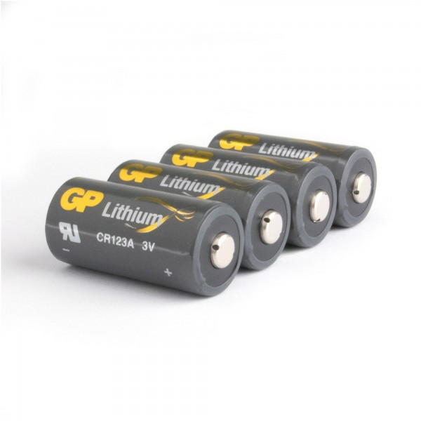 CR123A Batterie GP Lithium 4 Stück
