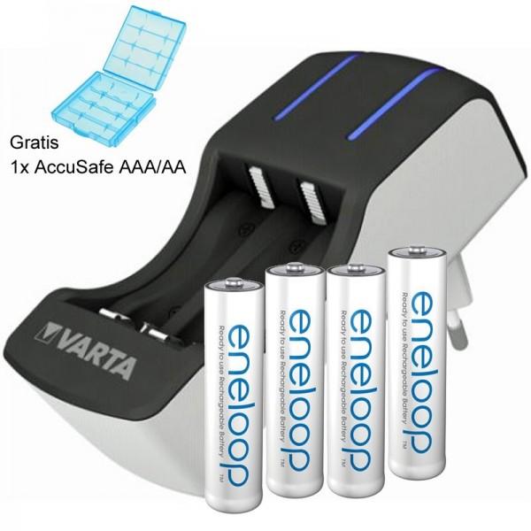 Panasonic eneloop Standard Micro AAA und Varta 2-4fach Ladegerät inklusive AccuSafe