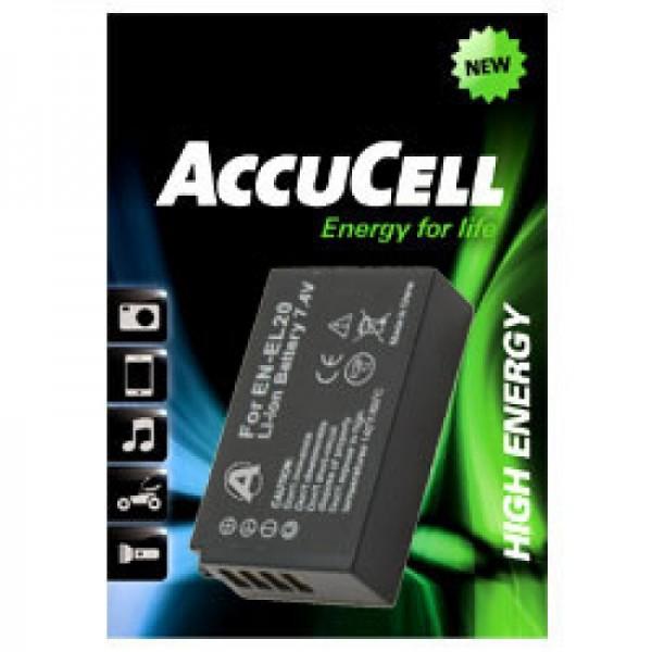 AccuCell Akku passend für EN-EL20 Akku, Nikon 1 J1 Akku