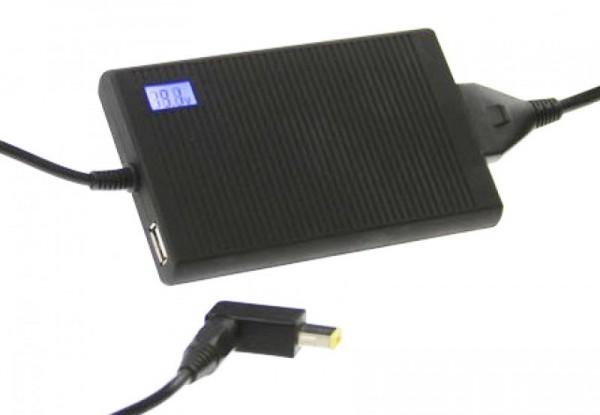 SILA Universal Netzteil für Laptop inkl. 15 Steckern mit zusätzlichem USB Ausgang