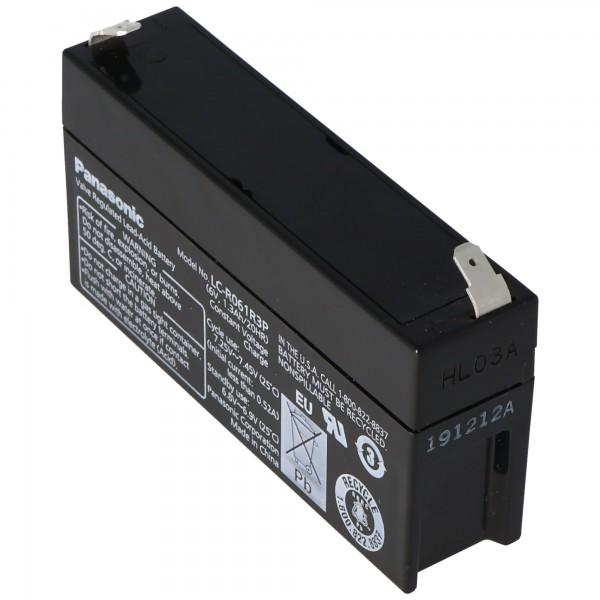 Panasonic LC-R061R3PG Blei Akku 6 Volt 1,3Ah mit 4,8mm Steckkontakten