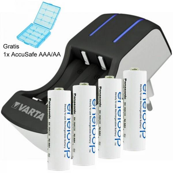 4x Panasonic eneloop Standard Mignon AA und Varta 2-4fach Ladegerät inklusive AccuSafe