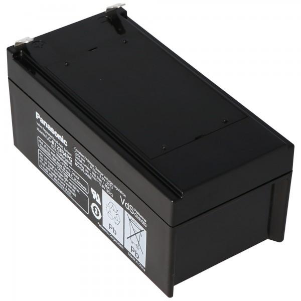 Panasonic LC-R123R4PG Akku 12 Volt 3,4Ah mit Faston F1-Anschluss 4,8mm Steckkontakten