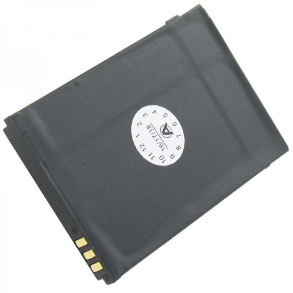 Akku passend für den DORO PHONEEASY 342 Akku XD0904009446, 01.10.CAREP0103 53,5 x 36,1 x 4,9mm