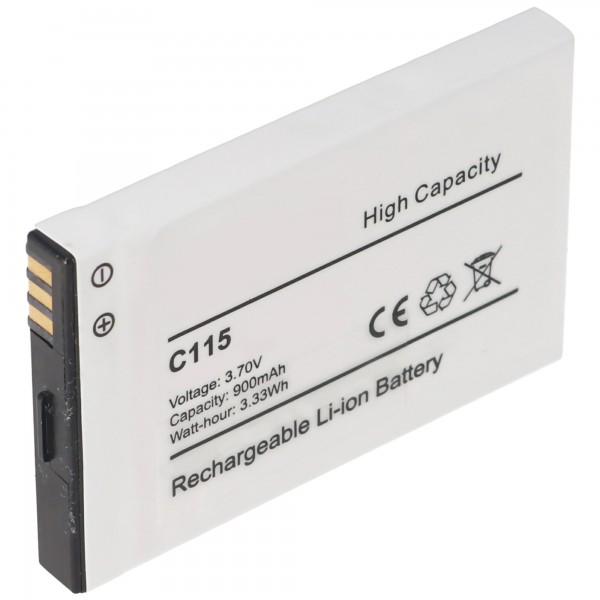 AccuCell Akku passend für Motorola C115, C116, C155, Tchibo 202 56,0 x 35,4 x 6,3mm