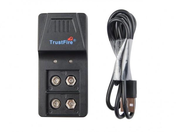 Trustfire BC01 9V Block 6F22 Akku-Ladegerät für Li-Ion, NiMH
