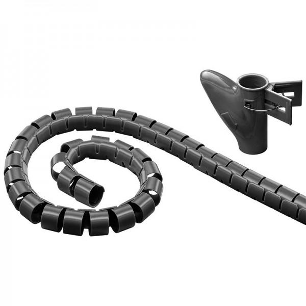 WireTube schwarz 2,5 m robuster Spiralschlauch gegen den Kabelsalat