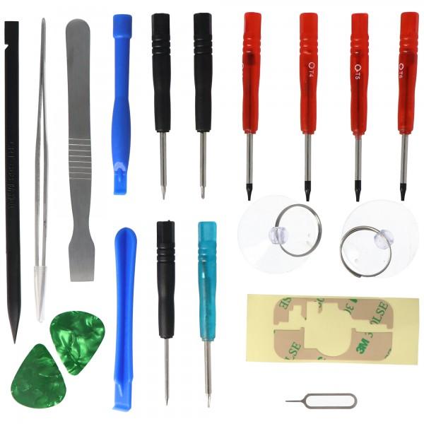 Werkzeug Set 18fach passend für iPhone 4, 4S, 5, 5C, 5S, PS4 Dualshock Controller für Akku Wechsel