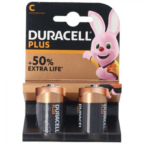 DURACELL Plus Baby/C/LR14 2er Pack